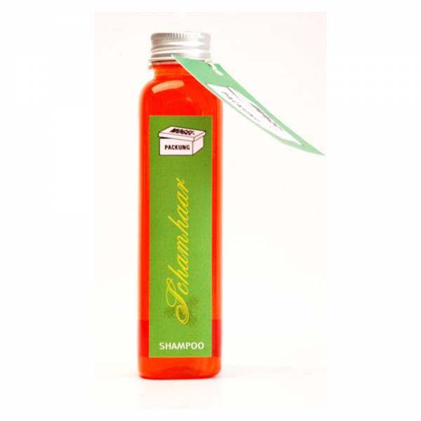 Duschgel mit Aufschrift SCHAMHAAR, Inhalt: 200 ml