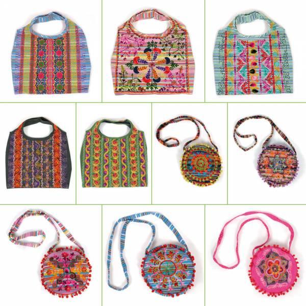 Indische Damentasche aus 100 % Baumwolle, farbige Schulterbeutel und Umhängetaschen