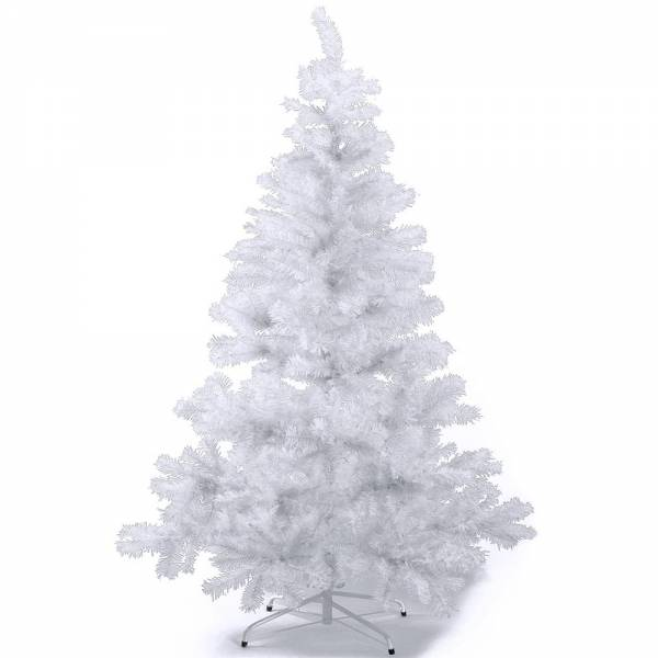 Künstlicher Weihnachtsbaum, farbiger Tannenbaum WEISS - 30 cm, 60 cm ,90 cm, 120 cm, 180 cm, 240 cm