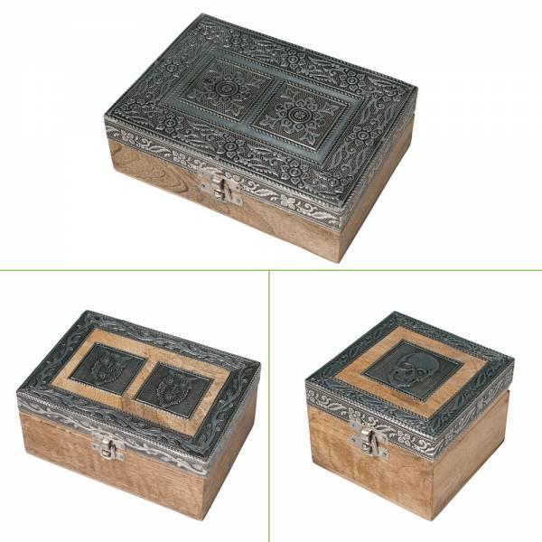 Schmuckbox Holz, verschiedene Designs