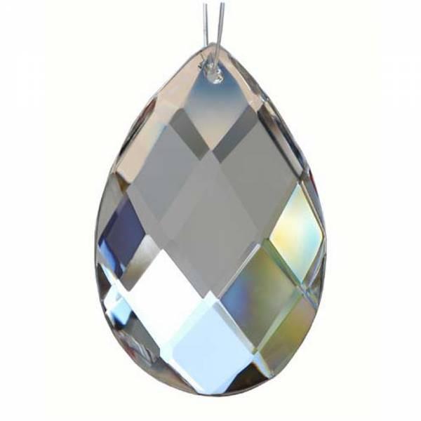 Bleikristall, Netzmandel Rautensschliff 50x31 mm